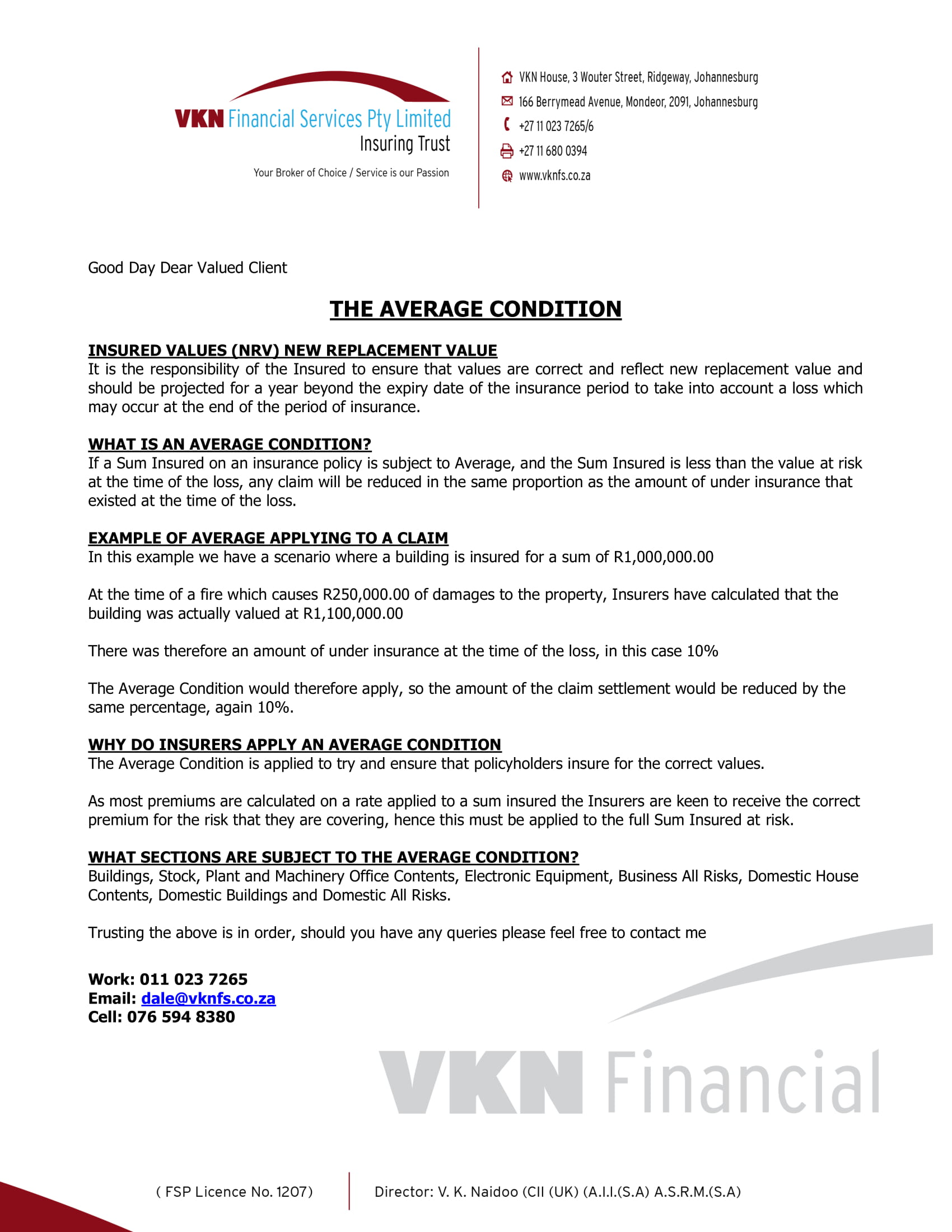 DONT GET CAUGHT BY AVERAGE – VKN Financial Services